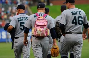 Baseball-Player-Wearing-Hello-Kitty-Back-Pack-590x377
